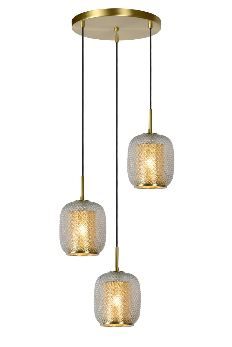 AGATHA Pendant 3x E27/40W Matt Gold / Glass (03433/03/02)