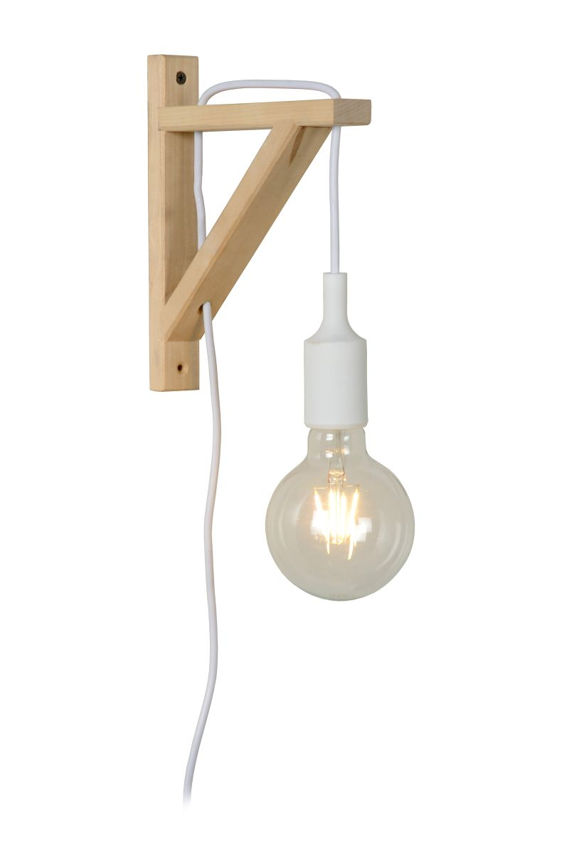 FIX Wall Light E27 excl. H22cm Wood/ White