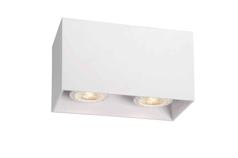 BODI Ceiling Light Square 2xGU10excl Whi (09101/02/31)