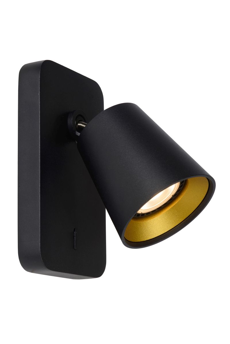 TURNON Ceiling spotlight GU10/5W Black / Gold