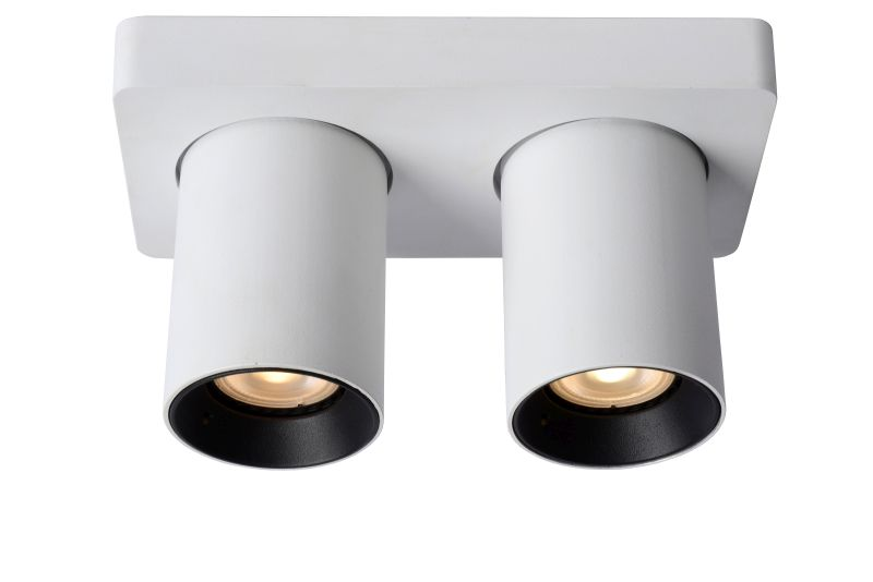 NIGEL Ceiling spotlight 2xGU10/5W White
