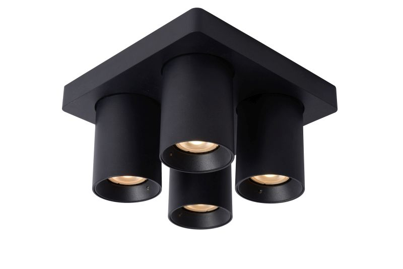 NIGEL Ceiling spotlight 4xGU10/5W Black