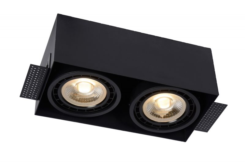 TRIMLESS Recessed spotlight 2xGU10 Black