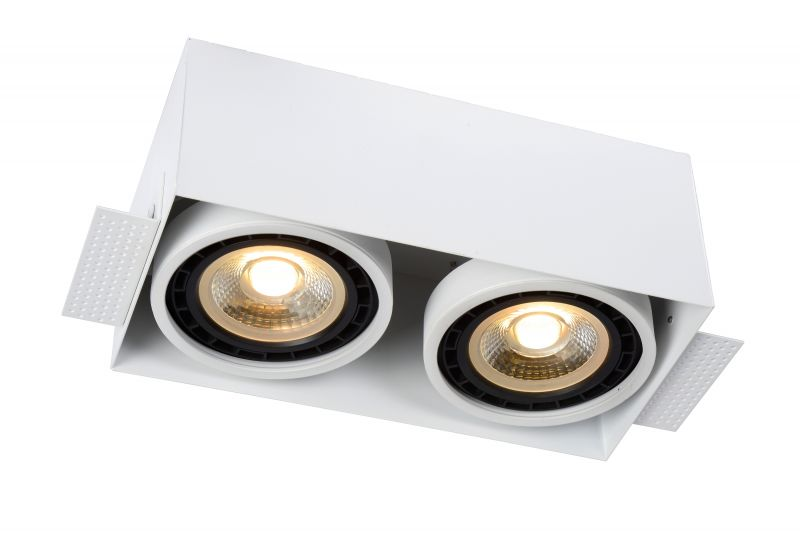 TRIMLESS Recessed spotlight 2xGU10 White