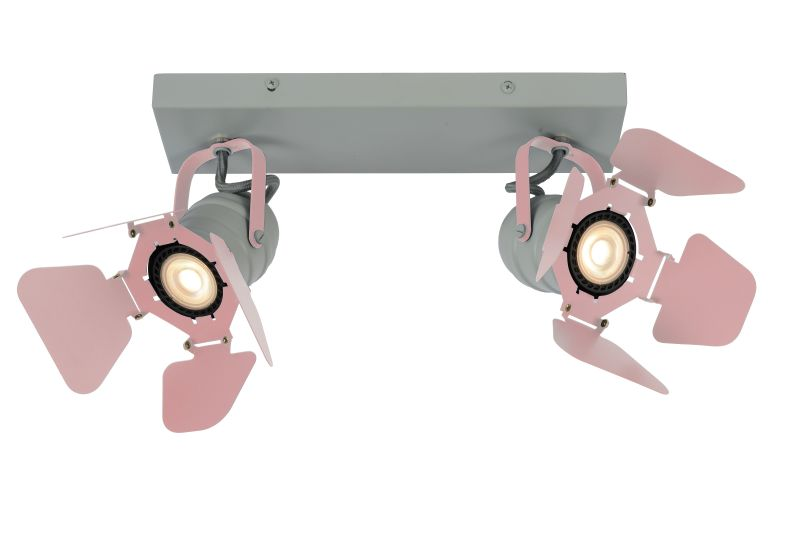 PICTO Ceililng spotlight 2xGU10/5W incl Pink