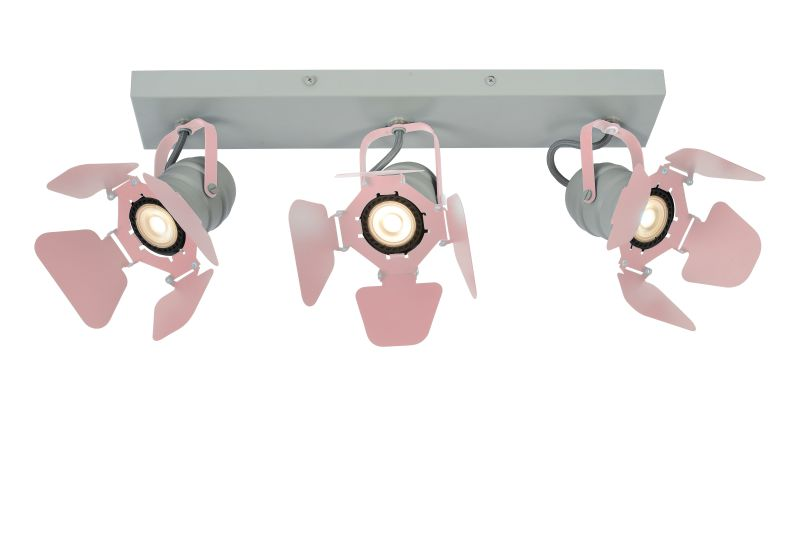 PICTO Ceililng spotlight 3xGU10/5W incl Pink