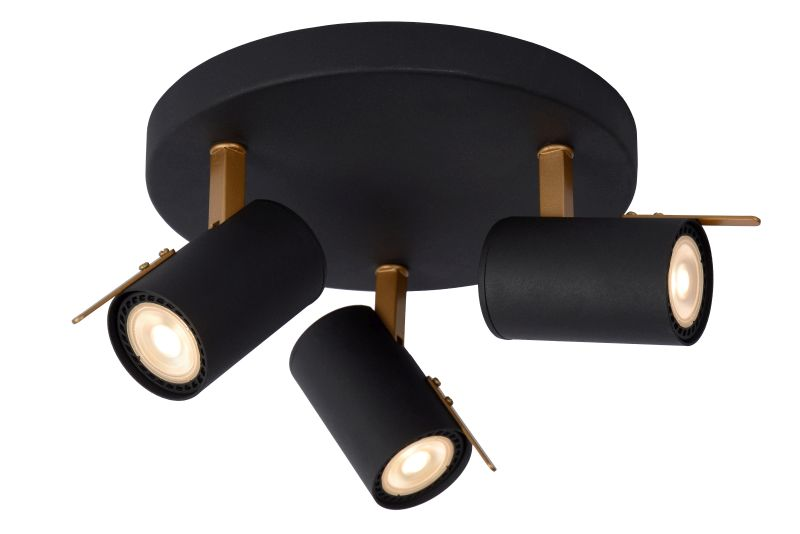 GRONY Ceiling Spotlight 3xGu10/5W  Black/Gold