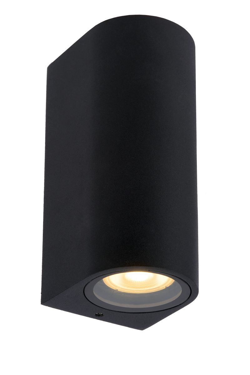 ZARO Wall spotlight Bathroom Round 2xGU10 Black